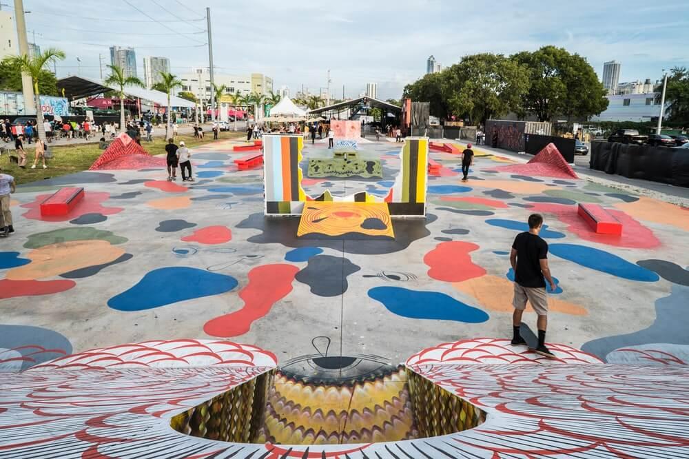Andrew Schoultz's Infinity Plaza Skate Park